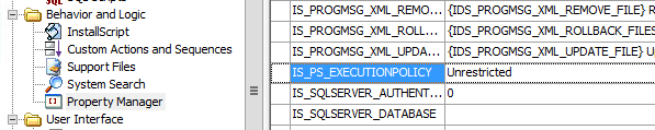 InstallShield IS_PS_EXECUTIONPOLICY