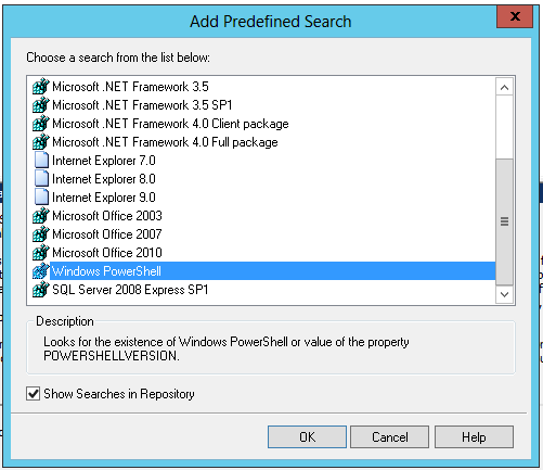 Installshield system search powershell
